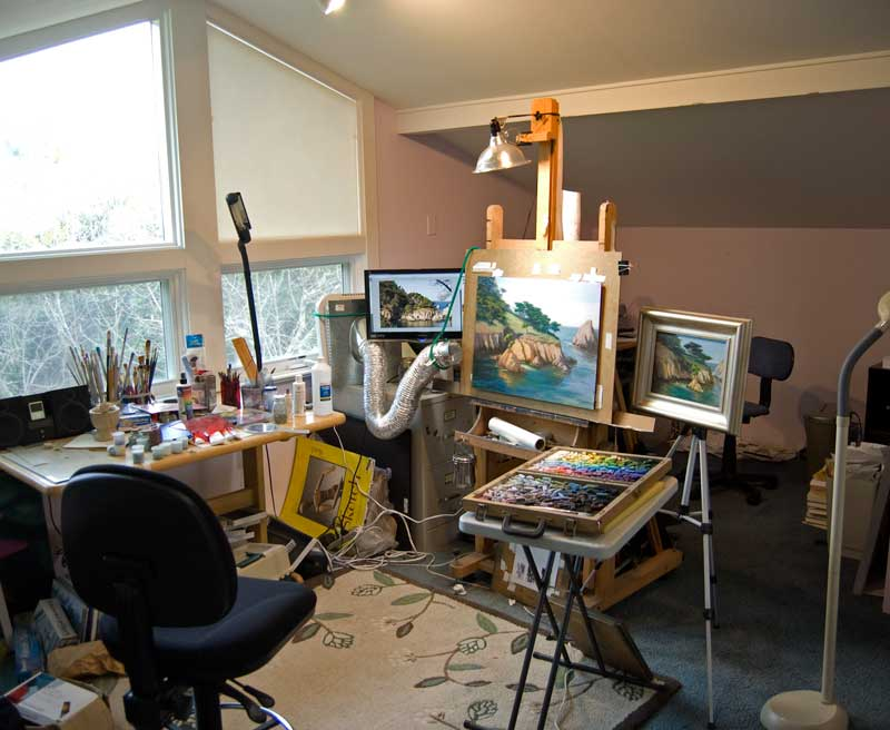 Studio painting process - An artists home ...